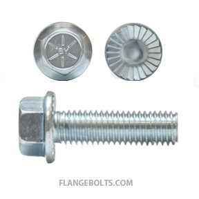 3/8-16X1 Hex Serrated Flange Screw Grade 8 Zinc