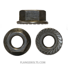 5/8-11 Hex Serrated Flange Nut Grade 8 Plain