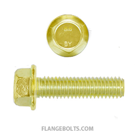 M10-1.5X25 Hex Flange Bolt CL8.8 Zinc Yellow