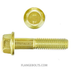 M12-1.75X25 Hex Flange Bolt CL8.8 Zinc Yellow