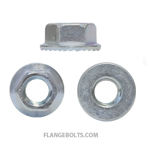 M8-1.25 Hex Serrated Flange Nut JIS Class 10 Zinc