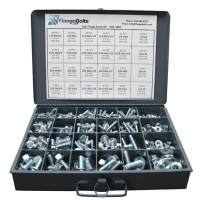 Grade 5 Serrated Hex Flange Kit w/ Steel Tray - 410 Pcs
