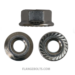 3/8-16 Serrated Hex Flange Nut 18-8 Stainless Steel