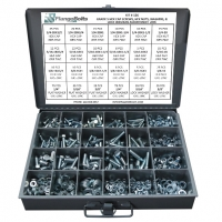 Grade 5  Hex Bolts, Nuts & Washers Kit w/ Steel Tray - 574 Pcs