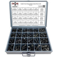 Grade 8 Black Phosphate & Oil Hex Flange Kit w/ Steel Tray - 420 Pcs
