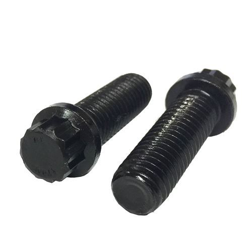 5/16-24x1-1/4 Alloy 12 Point Flange Bolts Black Oxide