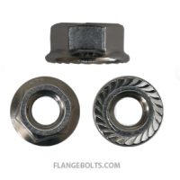 SERRATED HEX FLANGE NUTS 18-8 STAINLESS STEEL