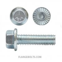 HEX SERRATED FLANGE SCREWS GRADE 5