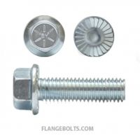 HEX SERRATED FLANGE SCREWS GRADE 8